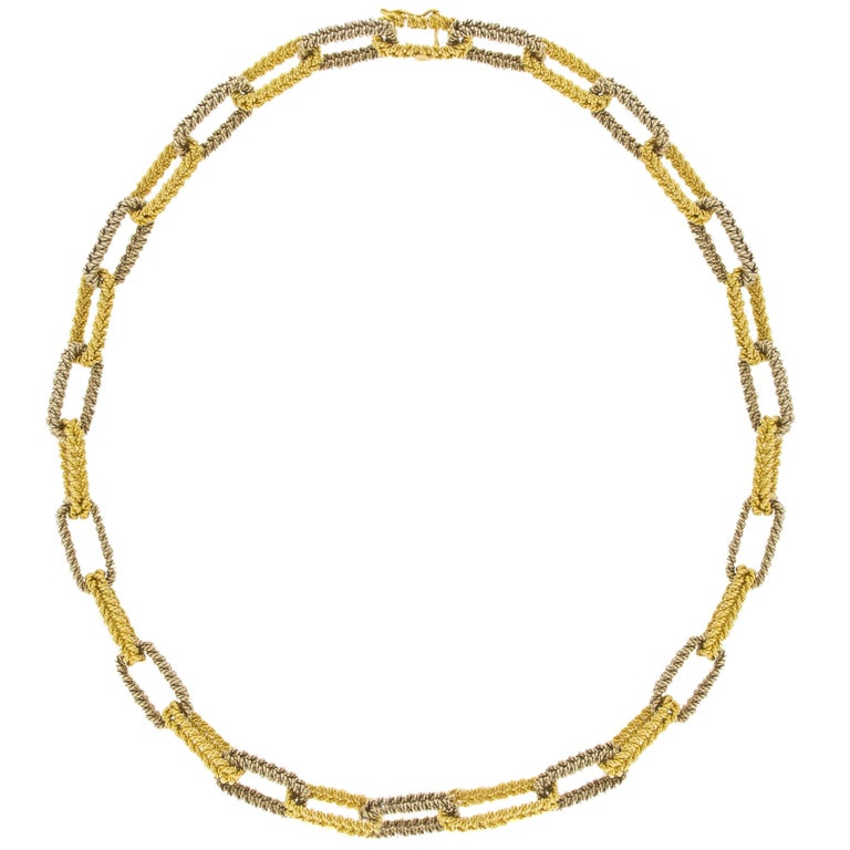 Jona Two Color Gold Link Chain Necklace