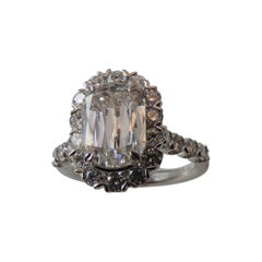 GIA certified D color 2.01carat L'amour Crisscut Diamond Platinum ring