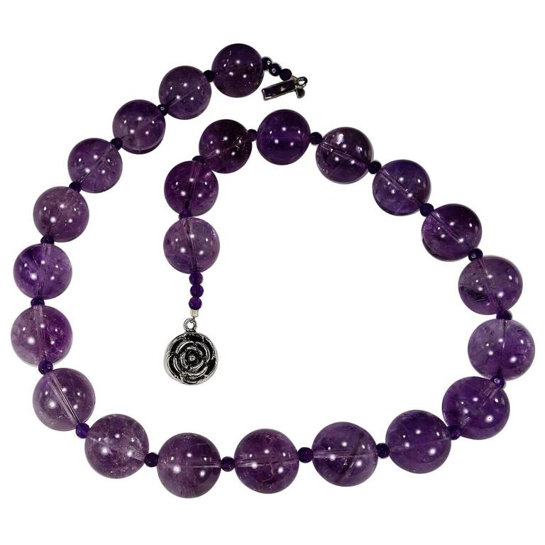 Great Balls of Amethyst Necklace