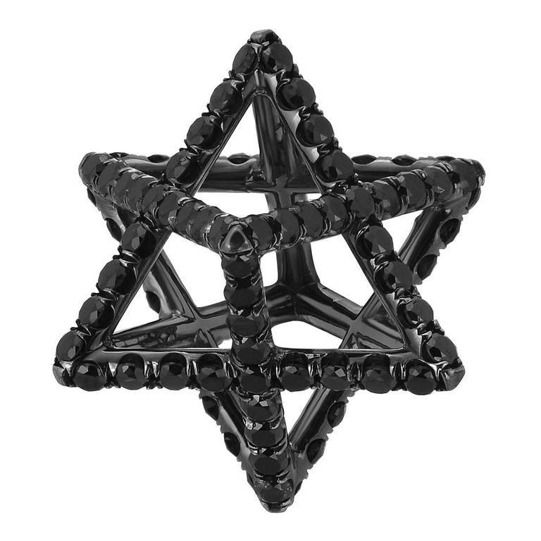 Merkaba Black Diamond Black Platinum Necklace