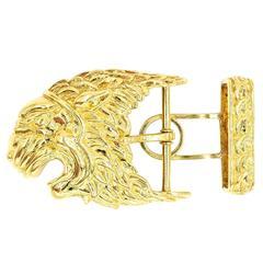 David Webb Gold Belt Buckle
