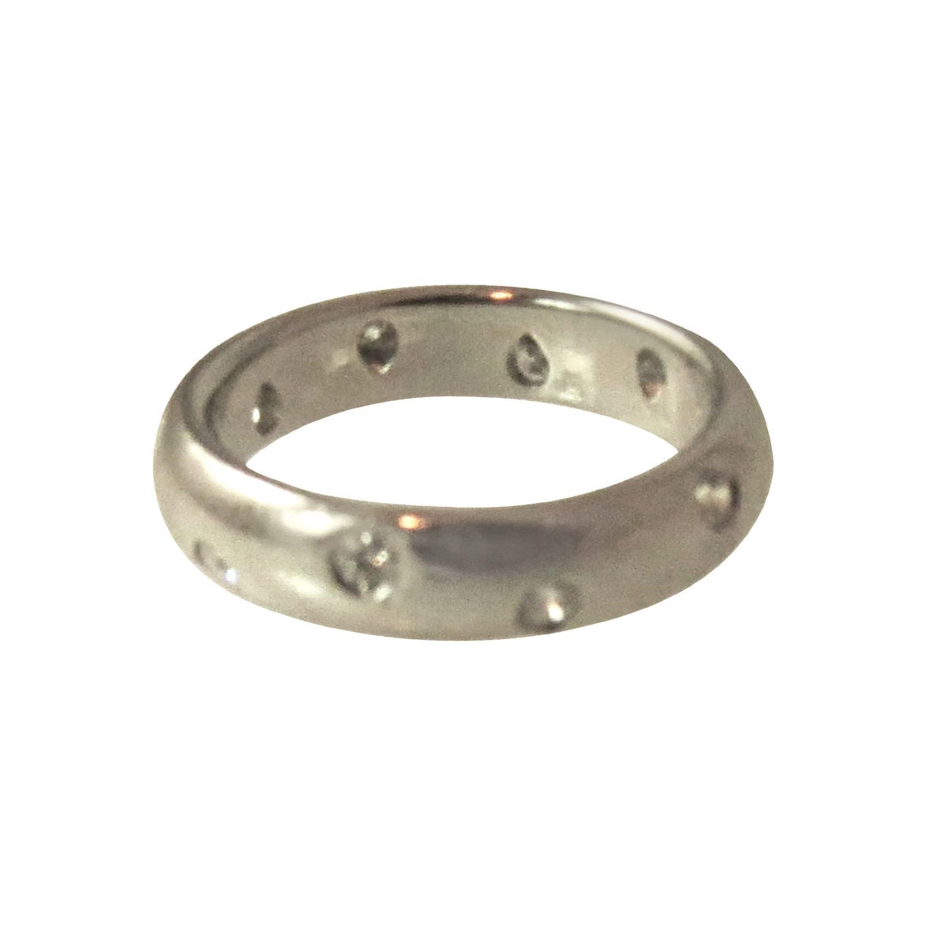 Tiffany Etoile Platinum Diamond Band Ring
