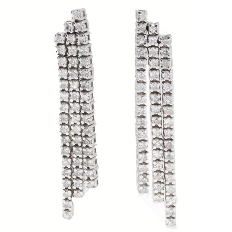 Diamond's Waterfall Gold Earrings