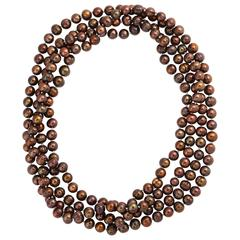 Extra Long Brown Pearls