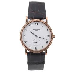 Patek Philippe Calatrava Clous De Paris Rose Gold Wristwatch