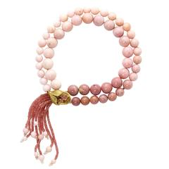 Ruby Sapphire Peruvian Opal Gold Necklace