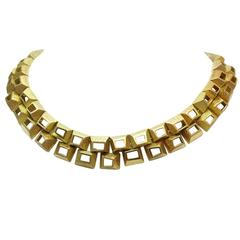 Yellow gold 1970's Mauboussin necklace.