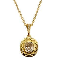 Luca Jouel GIA Certified 0.77 Carat E Color VS1 Clarity Diamond Daisy Necklace