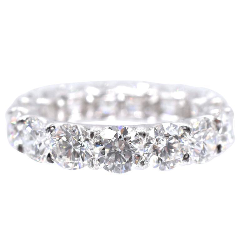 Nally Elegant Diamond Platinum Eternity Band Ring