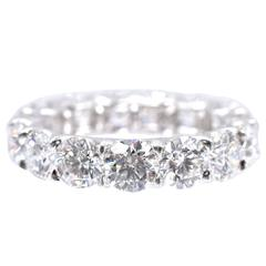 Nally Elegant Diamond Platinum Eternity Band Ring