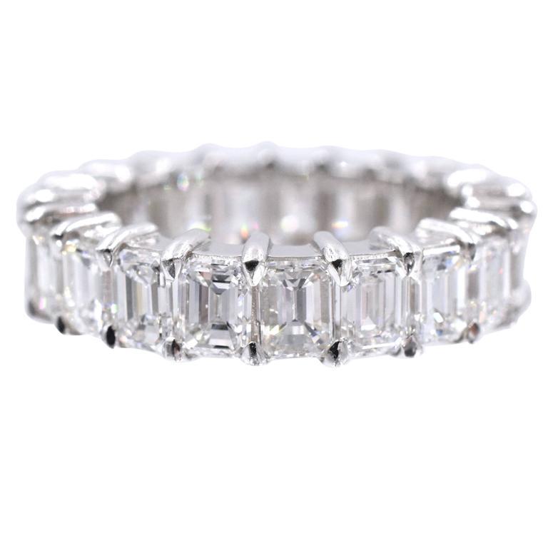 Nally Diamond Platinum Eternity Band Ring