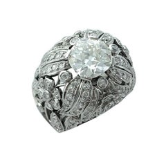 1930s Diamond Platinum Ring