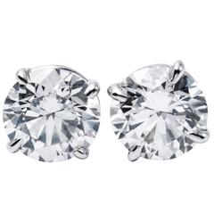 Brilliant Diamond Studs 1.83 Carat
