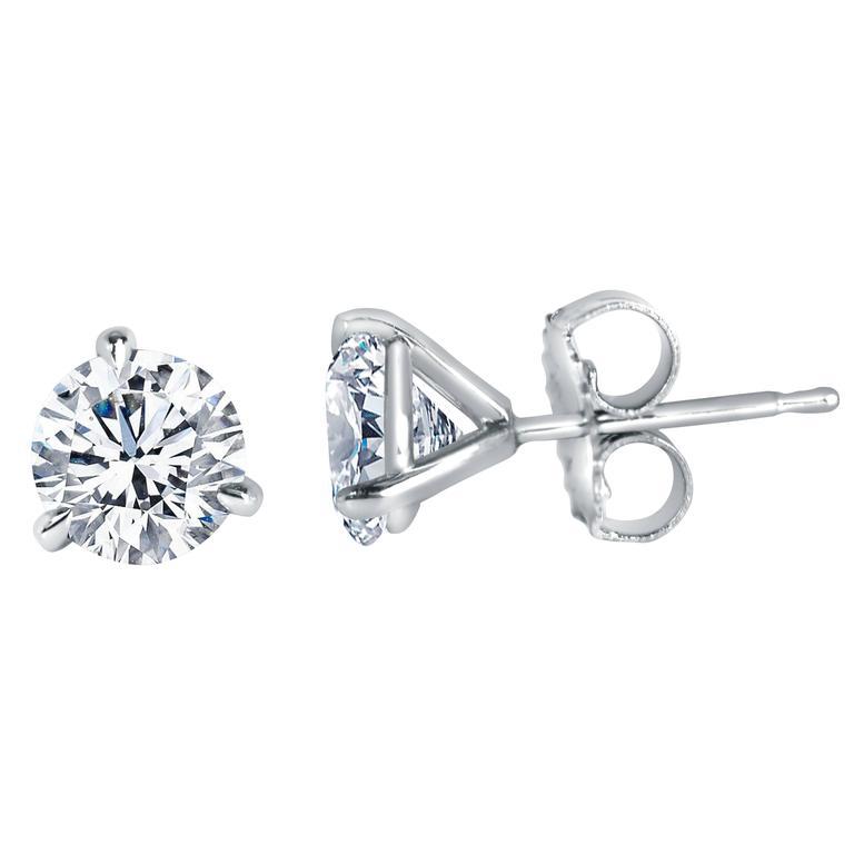 1.40 Carat Brilliant Diamond Studs Earrings
