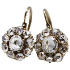 Luise Old Cut Diamond Daisy Earrings