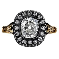 2.06ct Victorian Inspired Cushion Cut Engagement Ring