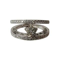 Gioielmoda Pasquale Bruni Diamond Gold Ring with Star Center