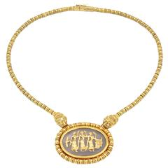 Lalaounis Crystal Gold Necklace