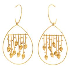 Diamond Gold Raindrop Earrings