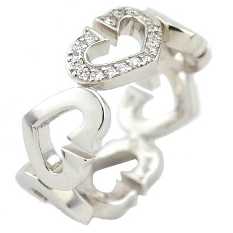 Cartier C Heart of Cartier Diamond Gold Ring
