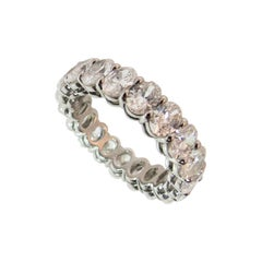Harry Winston Oval Diamond Platinum Eternity Band Ring