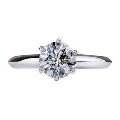 Tiffany & Co. 1.14 Carat Diamond Platinum Solitaire Engagement Ring