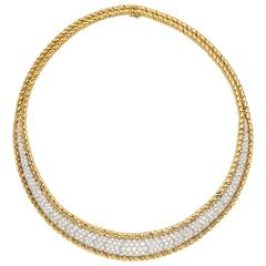 Diamond Gold Choker Necklace