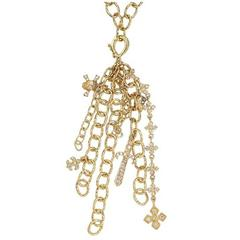Loree Rodkin Diamond Gold Charm Pendant Necklace