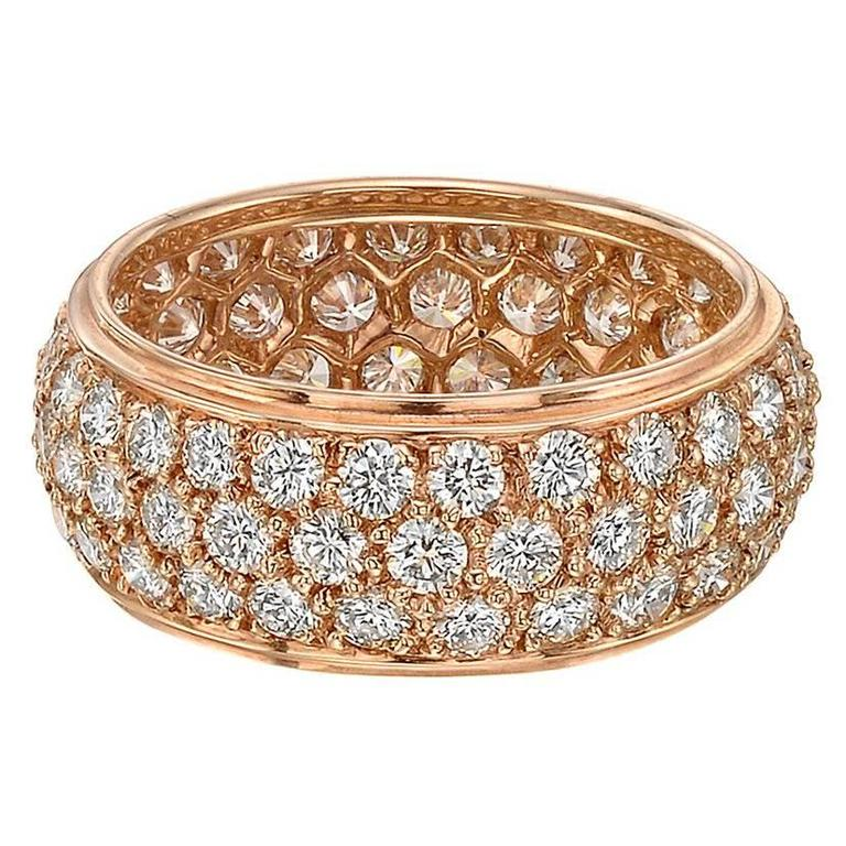 wide diamond bands darling de beers pave pav band db eternity