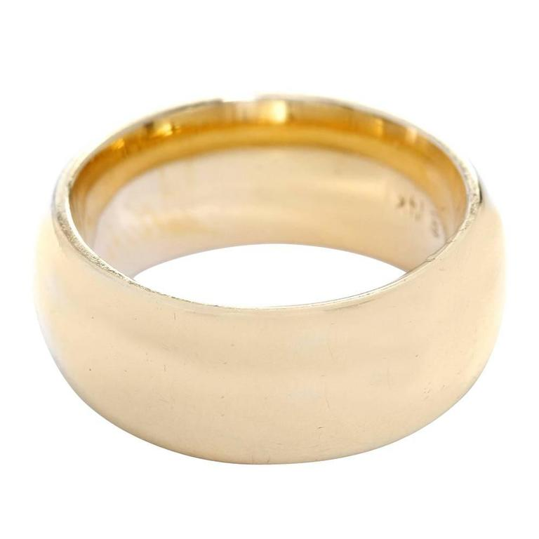 Classic  Wide Yellow Gold Wedding Band Ring