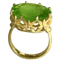 Dalben Oval Green Tourmaline Gold Ring