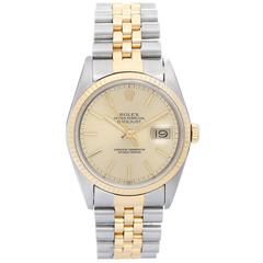 Rolex Two Color Gold Datejust Jubilee Band Automatic Wristwatch Ref 16233