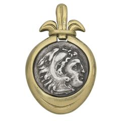 Greek Coin gold Pendant