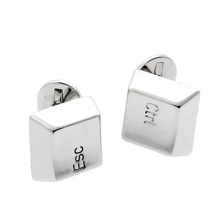 Cartier Keyboard Control Escape Cufflinks 1
