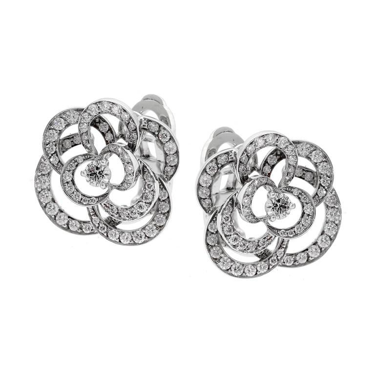 Chanel Camellia Diamond Earrings For