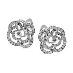 Chanel Camellia Diamond Earrings