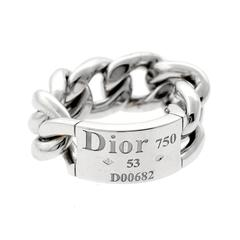 Dior Gold Chain Gourmette Link Ring