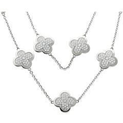Van Cleef & Arpels Diamond Alhambra Necklace