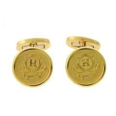 Hermes Yellow Gold Cufflinks