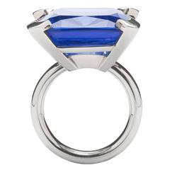 Jesse Tanzanite Zoïsite White Gold Ring
