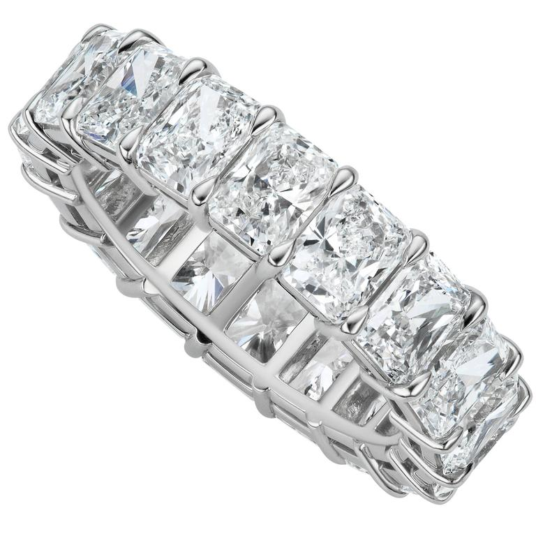 at cut vonora emerald platinum eternity set bands band channel diamond