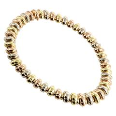 Bulgari Celtica Yellow White and Rose Gold Choker Necklace