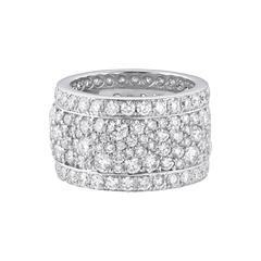 Vanleles 18 Karat White Gold Diamond Band Ring
