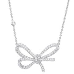 Vanleles Diamond Gold Lyla's Bow Pendant