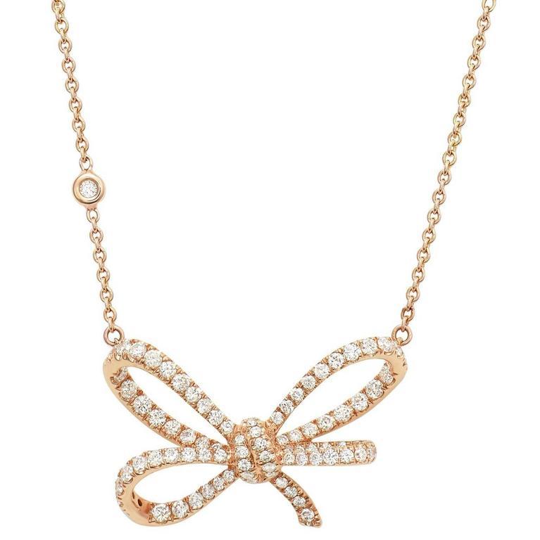White Diamonds and Rose Gold Pendant