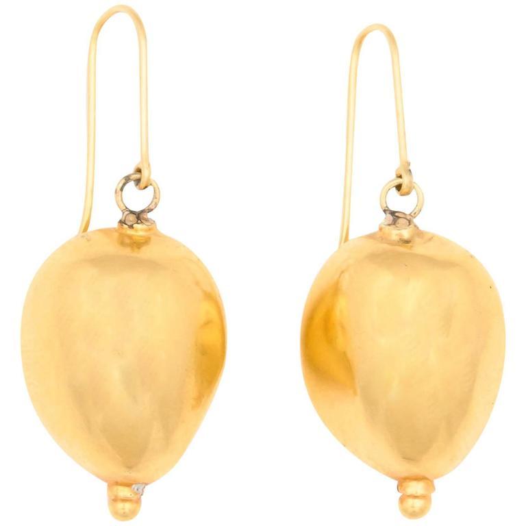 Gold Edamame Earrings