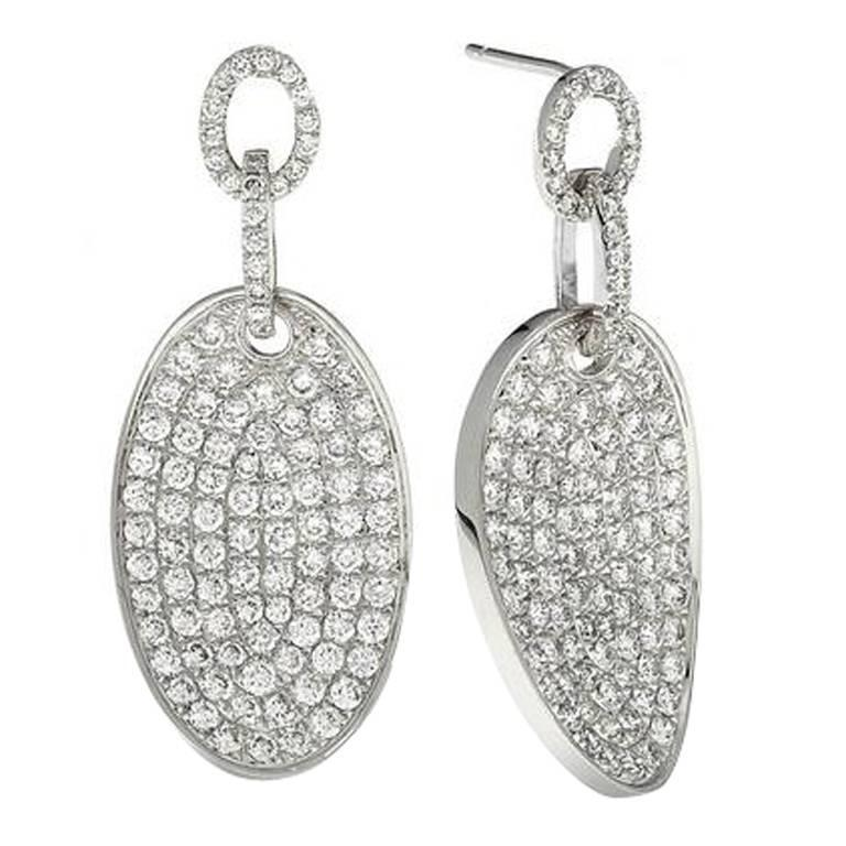 One of a Kind Micro Pave Diamond Earrings 1