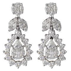Classic Illusion Diamond Drop Earring