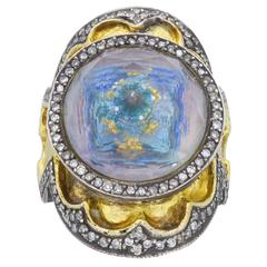 Sevan Bicakci Theodora Reverse Cut Amethyst Yellow Gold Ring