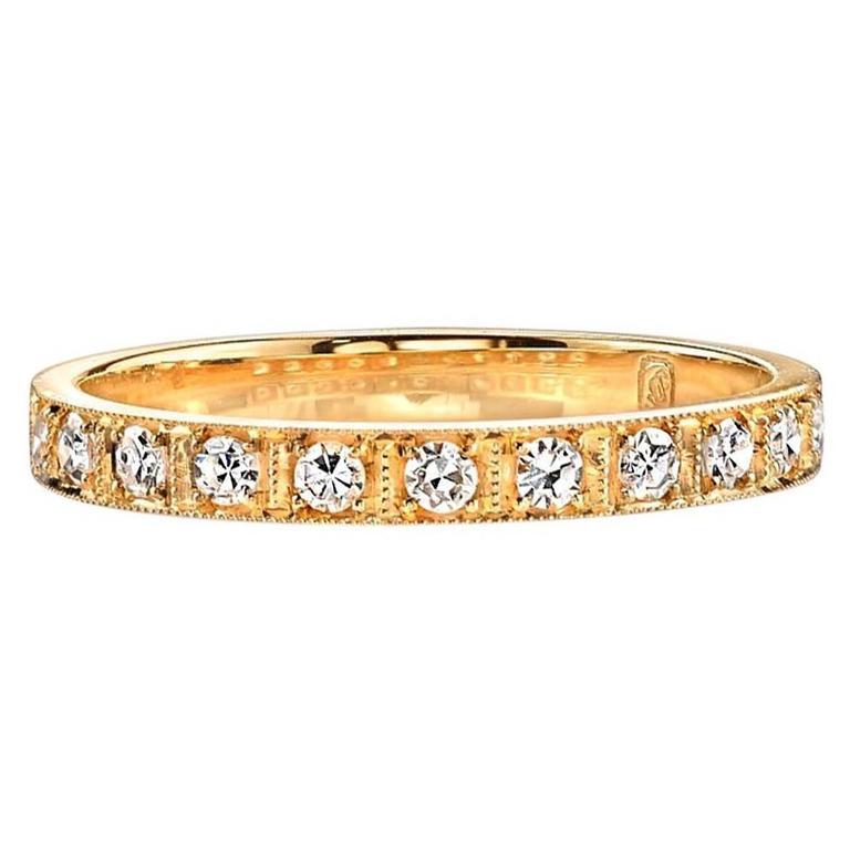 Diamond Yellow Gold Eternity Band Ring